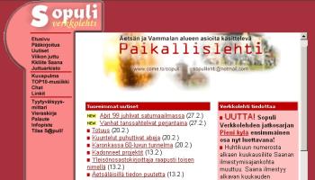 Sopuli.fi alkuvuosi 1999 (pieni)