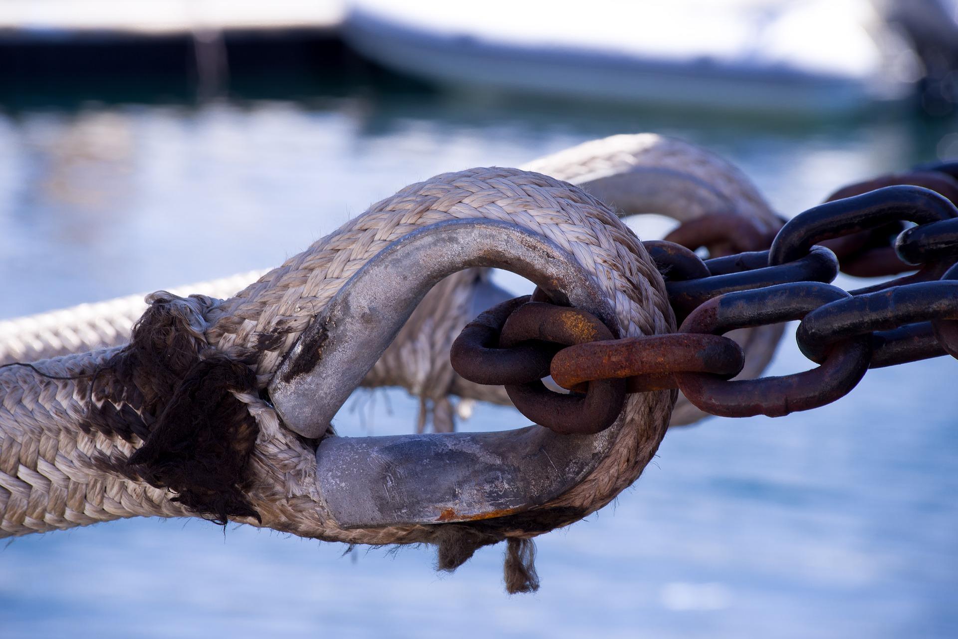 Vene, kiinnitys, köysi