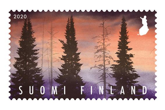 Janne Laine, postimerkki, metsä