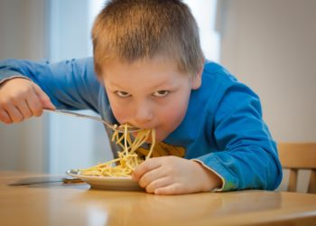 Lapsi, poika, syö, ruoka