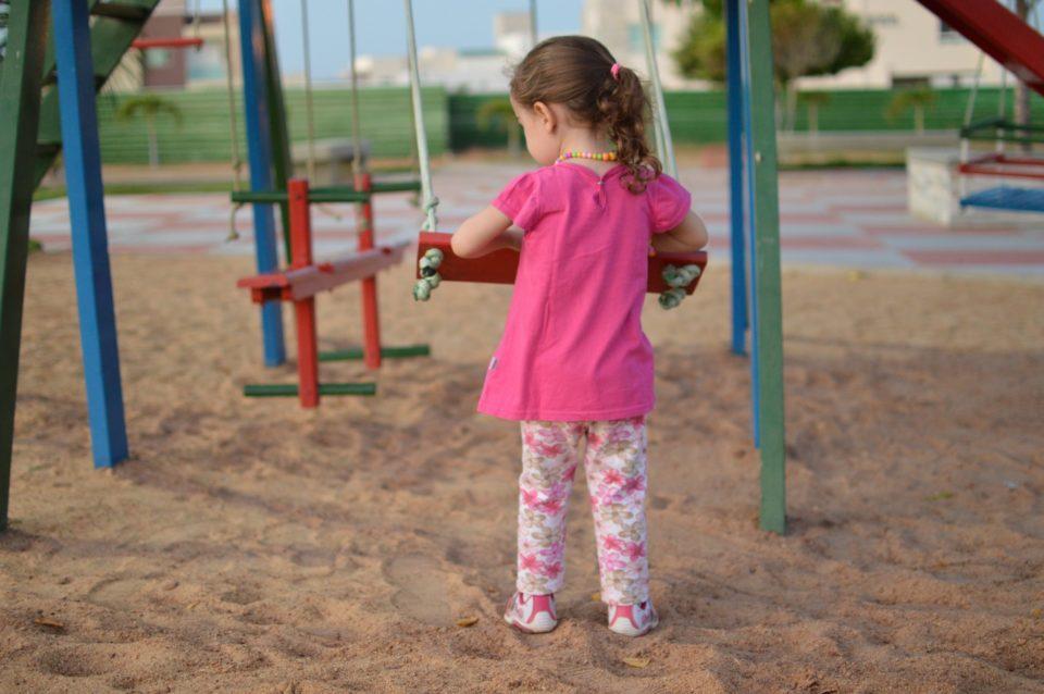 Leikkipuisto, lapsi
