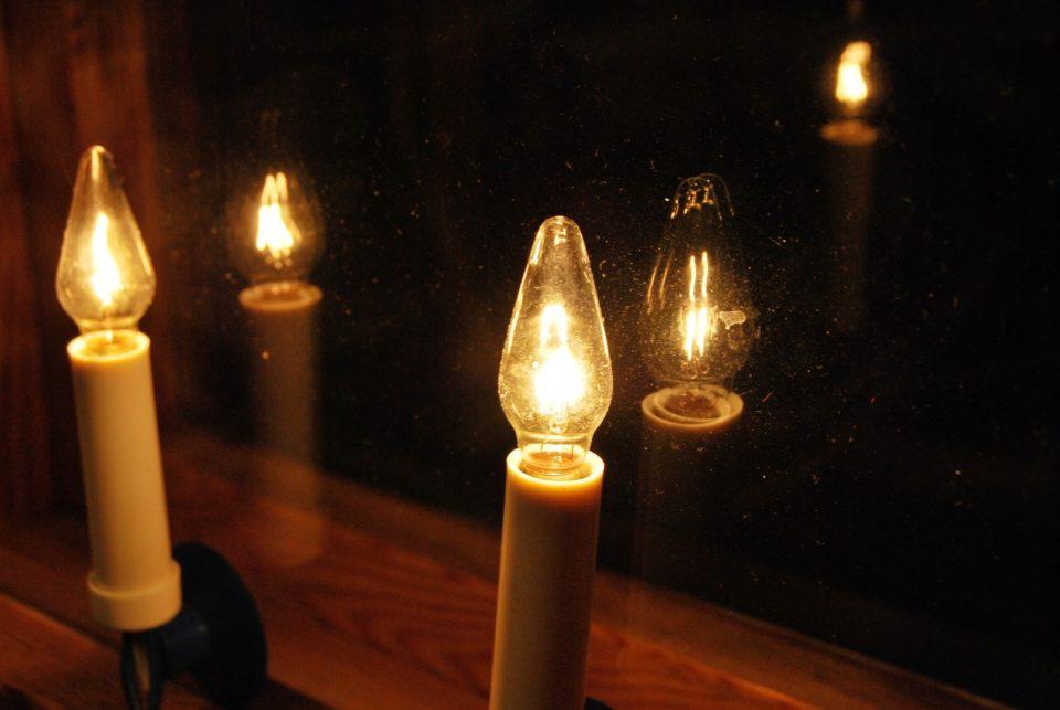 Joulu, kynttilät