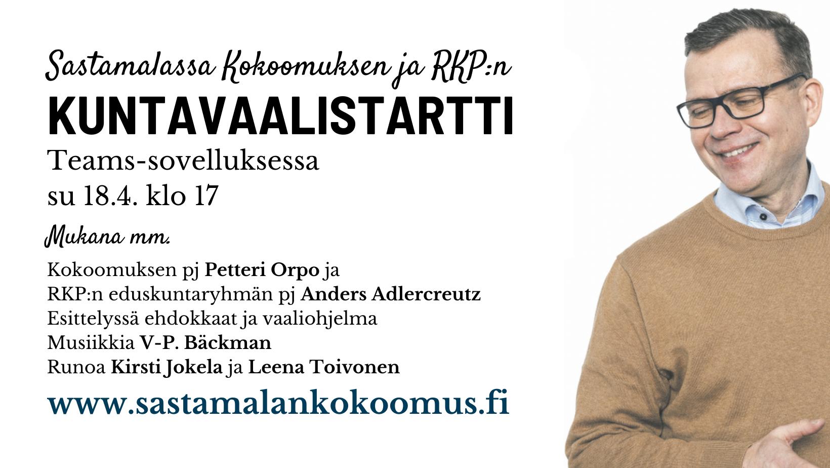 Mainos - Sastamalan Kokoomus ja RKP