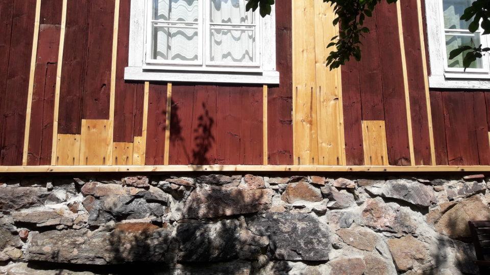 Rakennusperintö, vanha rakennus, korjaus